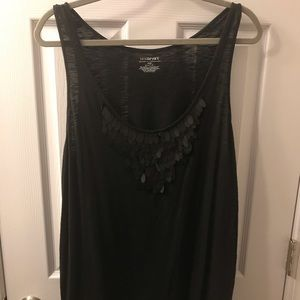 Lane Bryant Black Tank w/ Embellishment